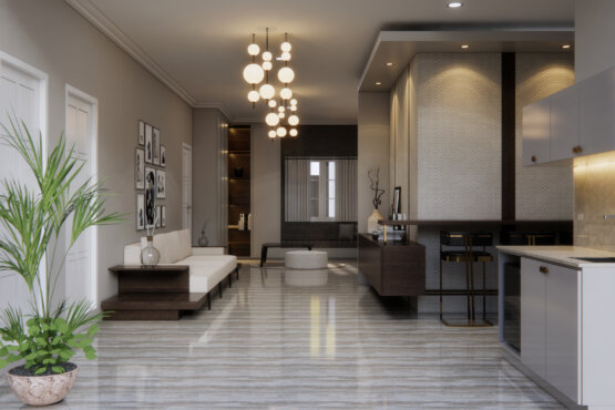 ruang keluarga transit desain klasik