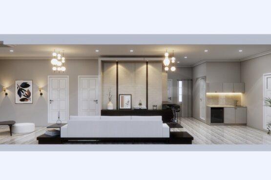 inspirasi ruang keluarga transit desain klasik