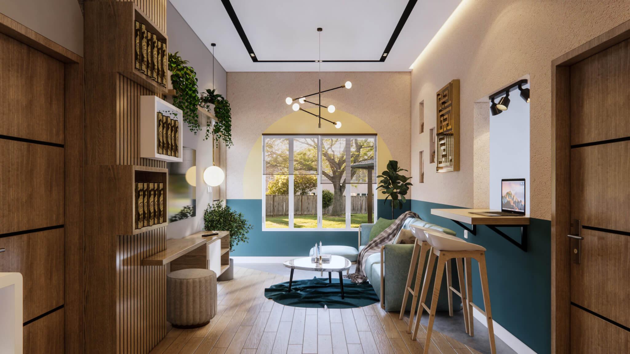 ide ruang keluarga dengan eclectic designs