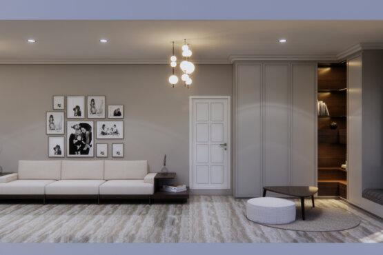 interior ruang keluarga transit desain klasik