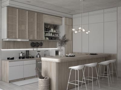 inspirasi interior dapur scandinavian