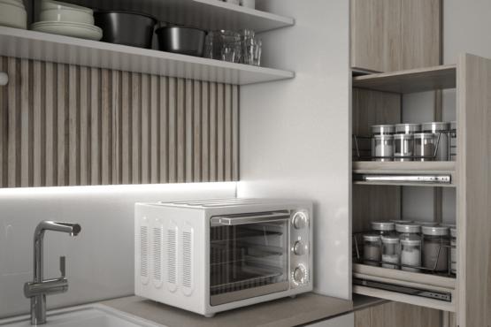desain interior dapur scandinavian-japanese
