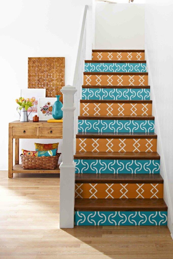 dekorasi tangga dengan lukisan