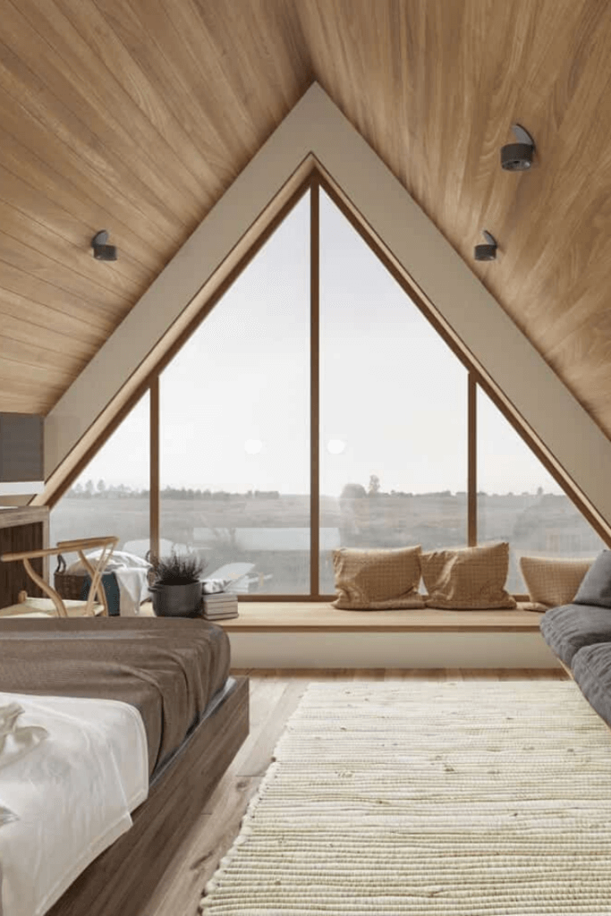 plafon kamar minimalis material kayu