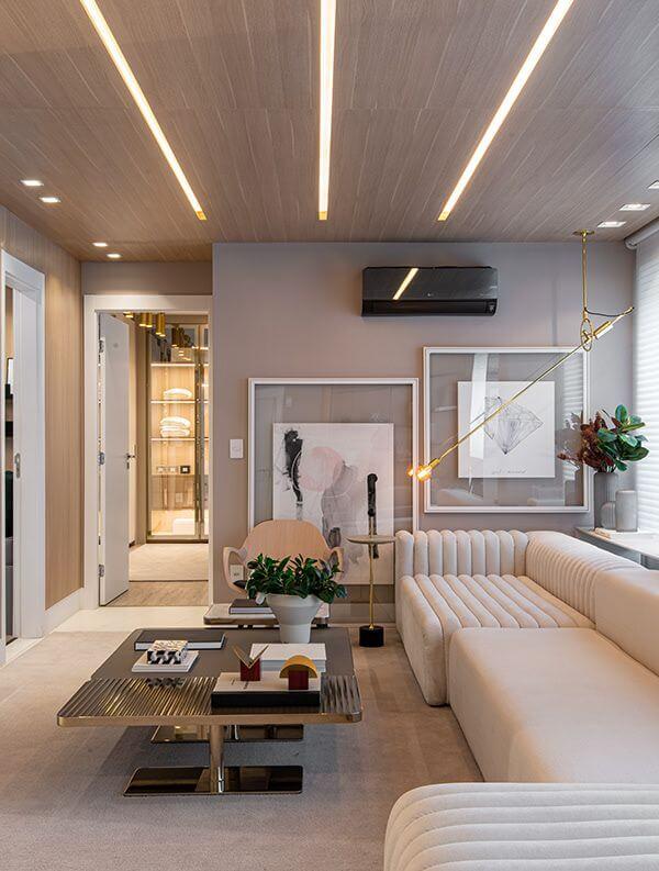 plafon rumah minimalis dengan aksen modern
