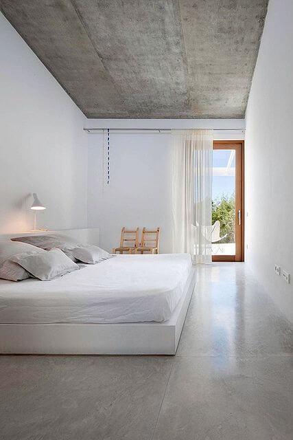 plafon rumah minimalis bermaterial beton