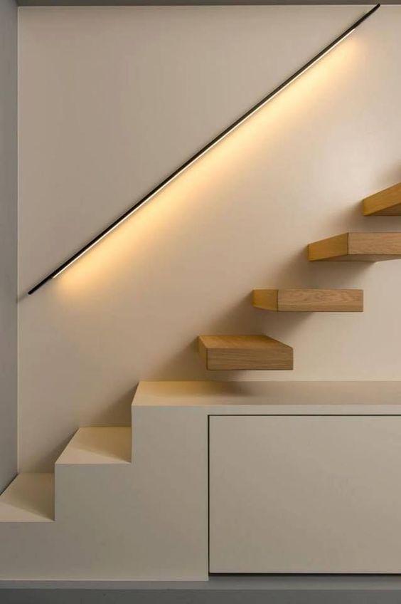 tangga rumah minimalis floating