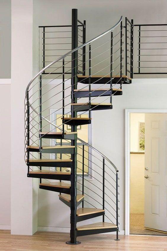 tangga rumah minimalis bentuk spiral