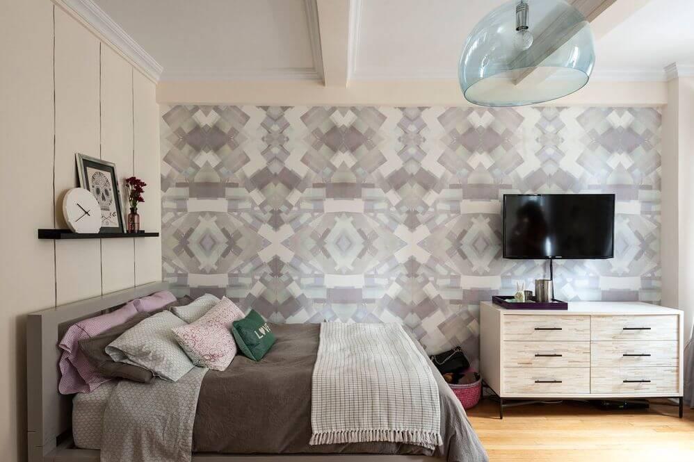 wallpaper dinding kamar karya LABL Studio