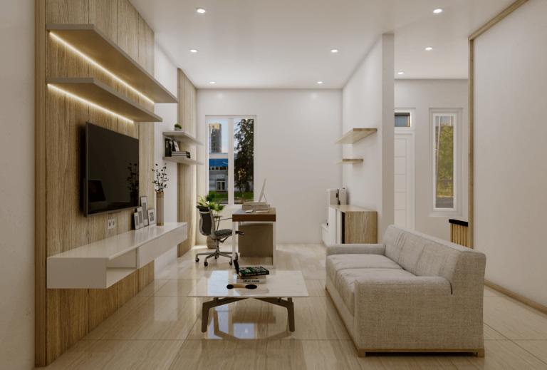 ruang keluarga skandinavia