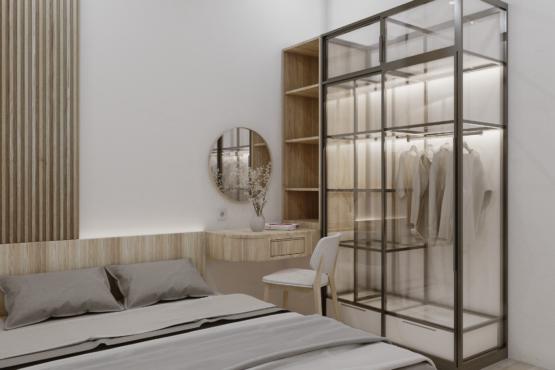 interior kamar tidur scandinavian