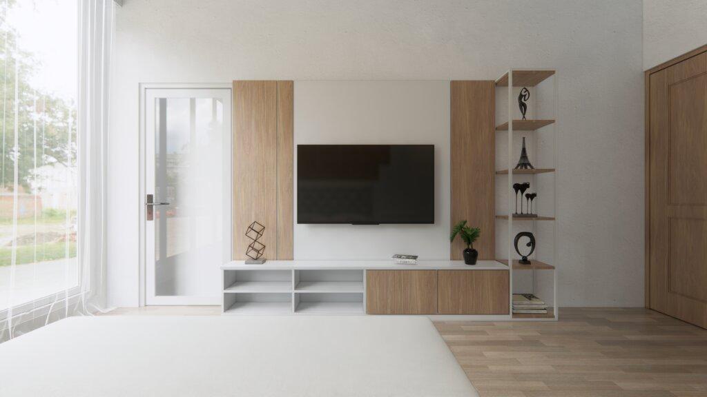 lemari tv ruang keluarga