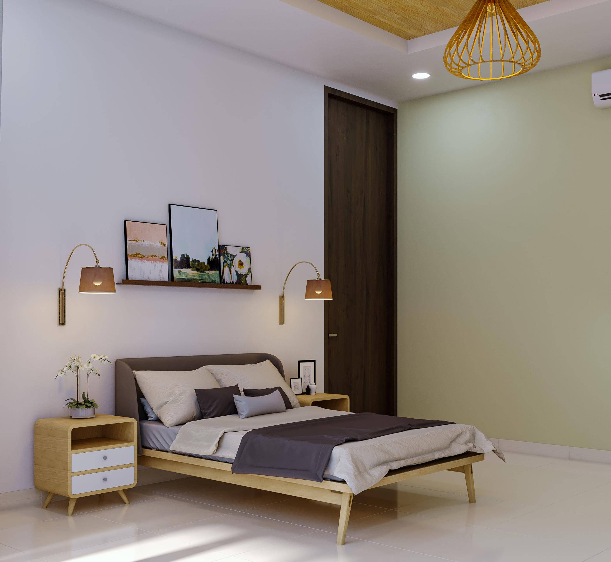 interior kamar tidur di rumah modern tropis