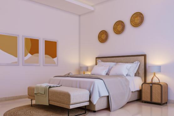 desain interior kamar di rumah modern tropis