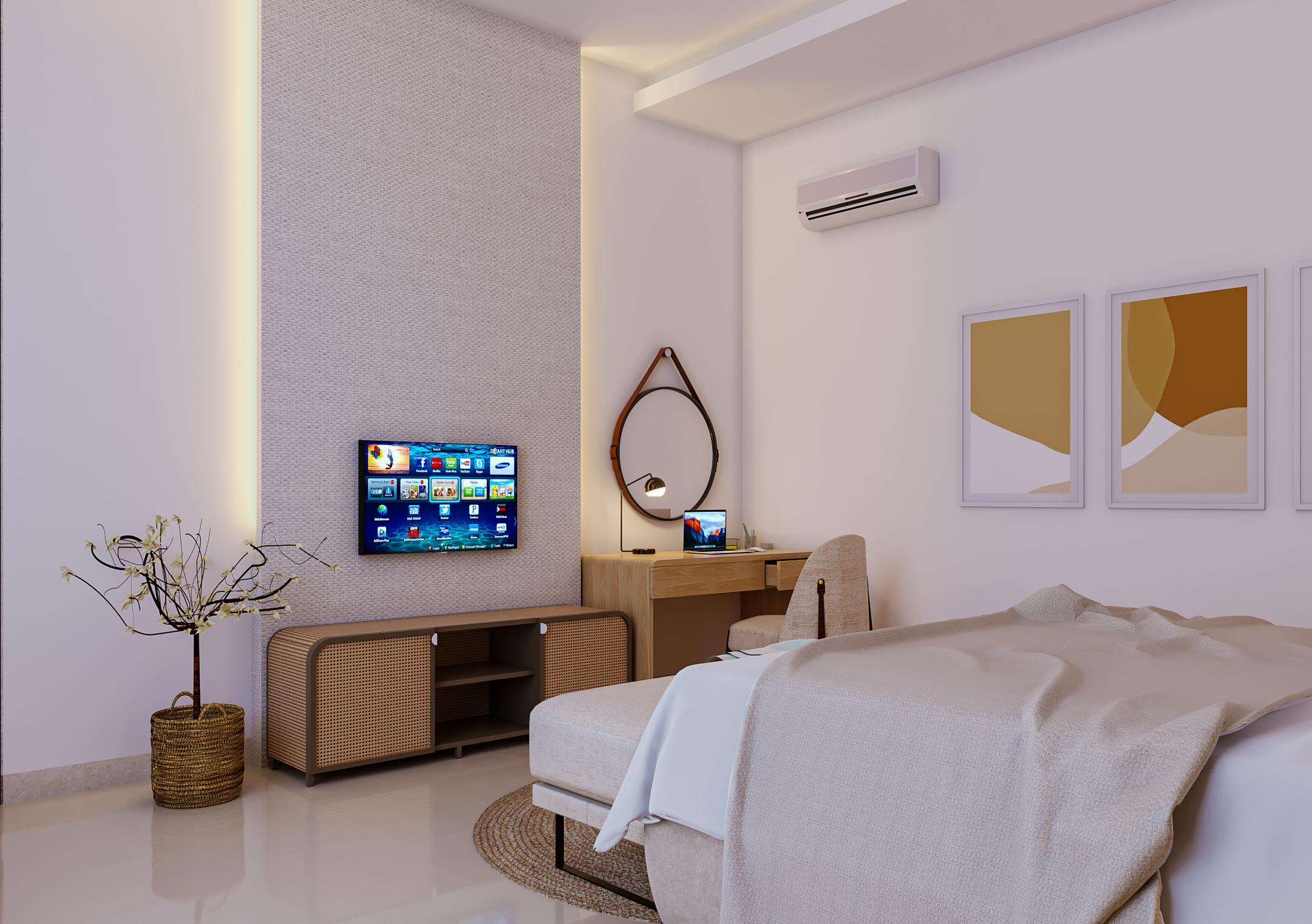 kamar di rumah modern tropis