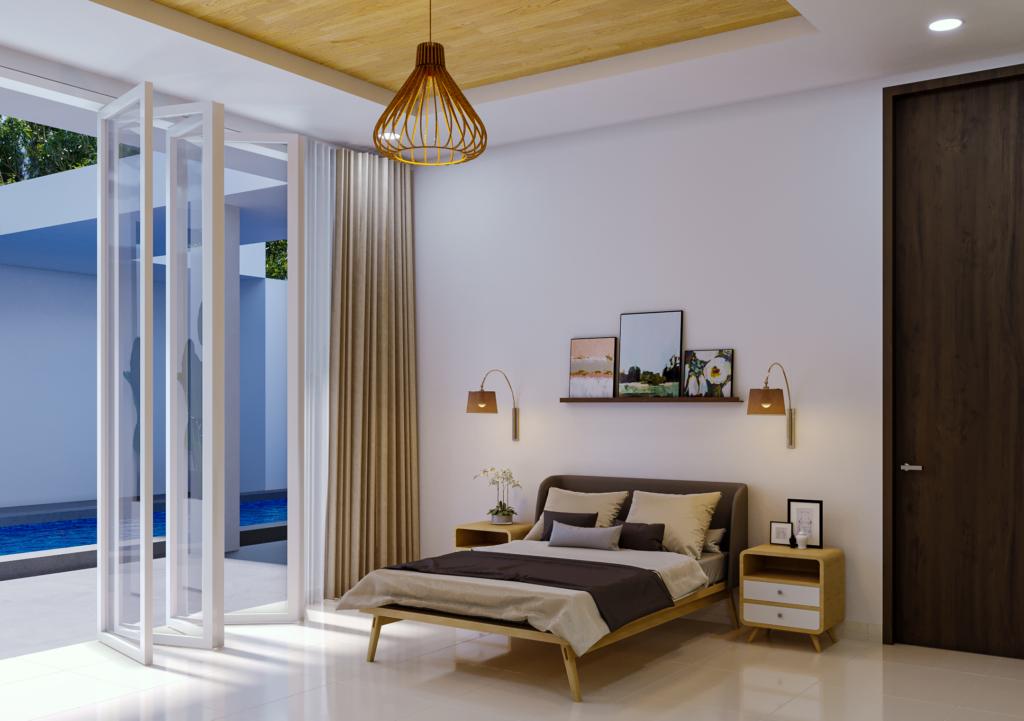 ide interior kamar di rumah modern tropis