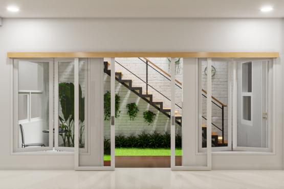 desain interior taman rumah