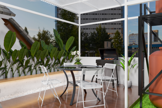 desain rooftop kontemporer