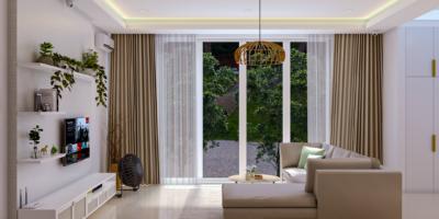 desain ruang keluarga di rumah modern-tropis