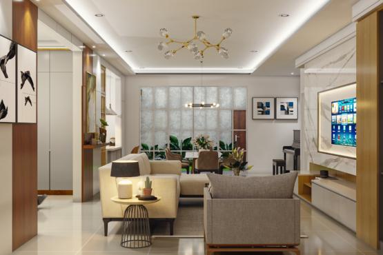 desain interior ruang keluarga klasik modern