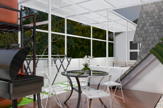 ide interior rooftop kontemporer