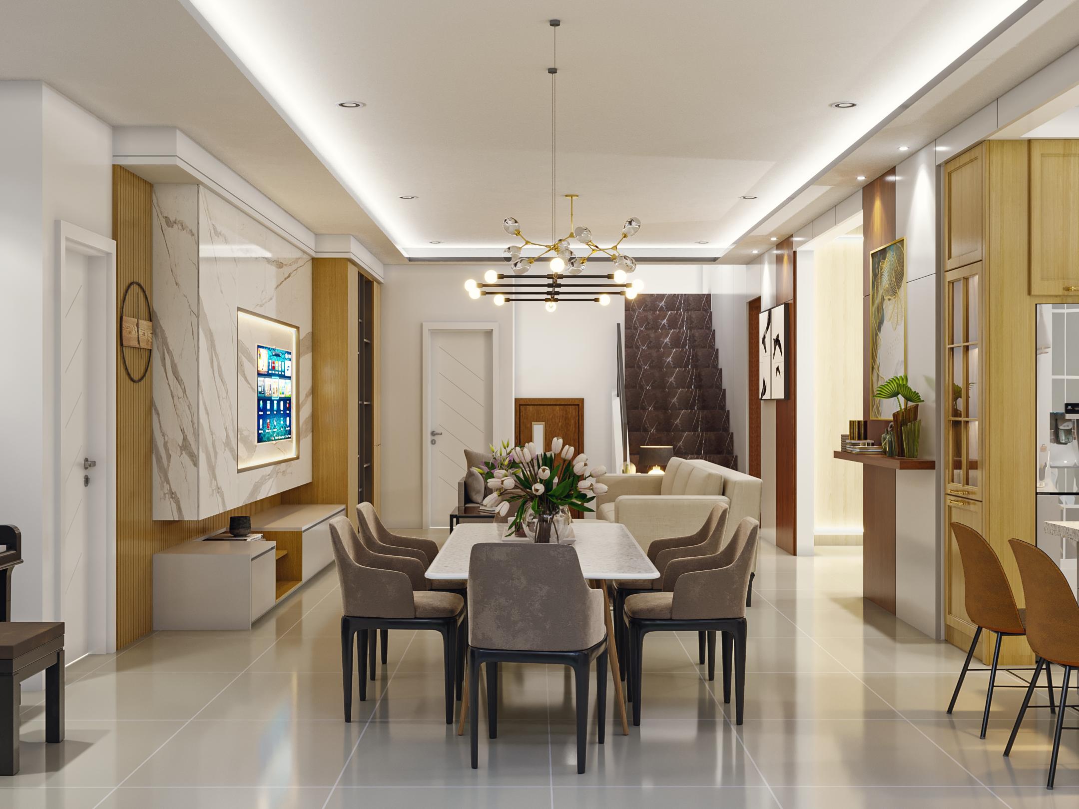 ruang keluarga klasik modern