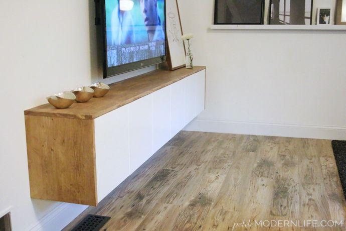 lemari tv mengambang