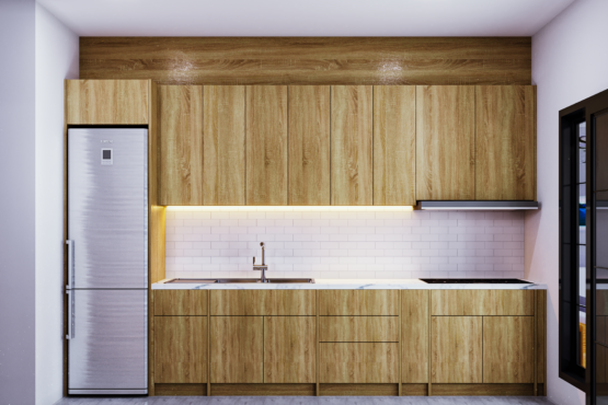 dapur industrial modern