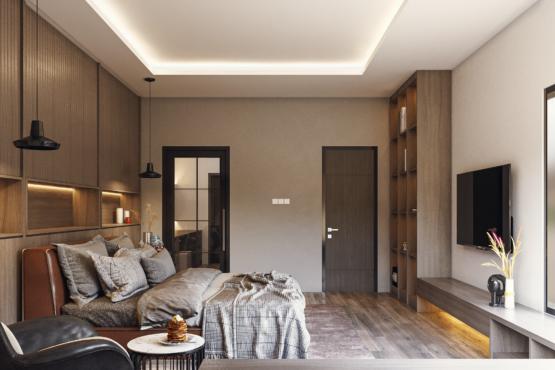 kamar di modern industrial house