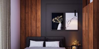 desain kamar tidur di modern industrial house