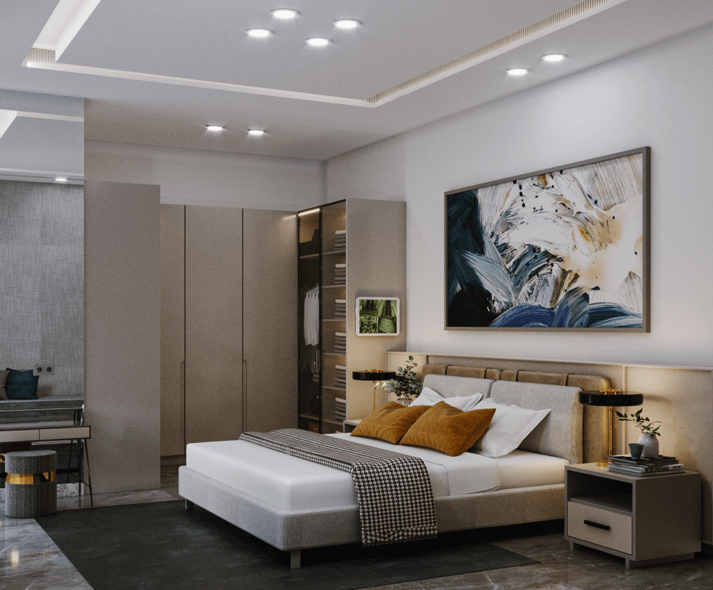 interior kamar tidur modern kontemporer