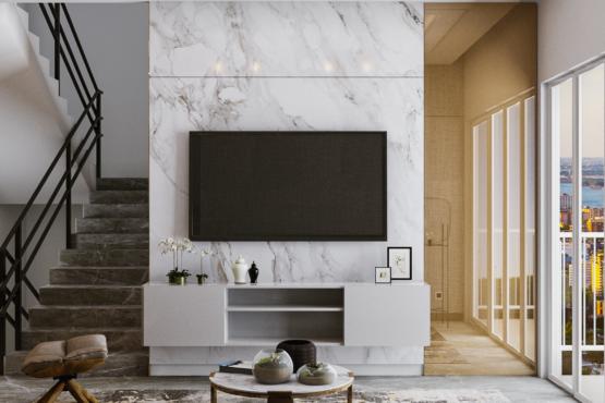 desain ruang keluarga modern kontemporer