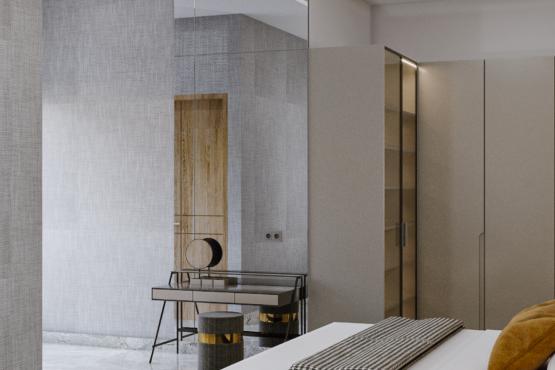 desain interior kamar tidur modern kontemporer