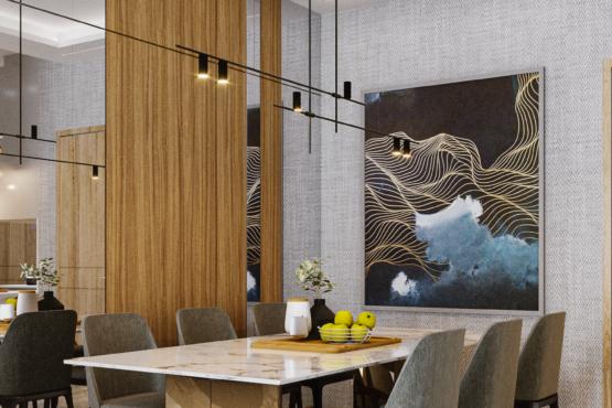 interior ruang keluarga modern kontemporer