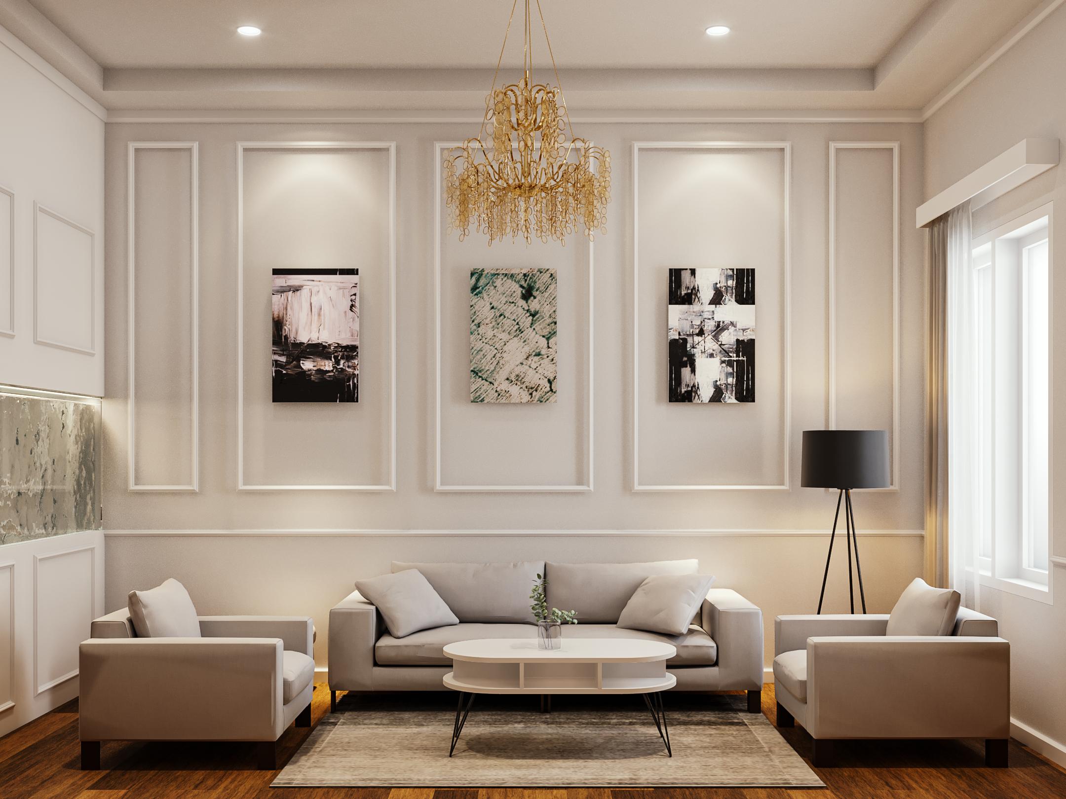 desain ruang keluarga classic modern