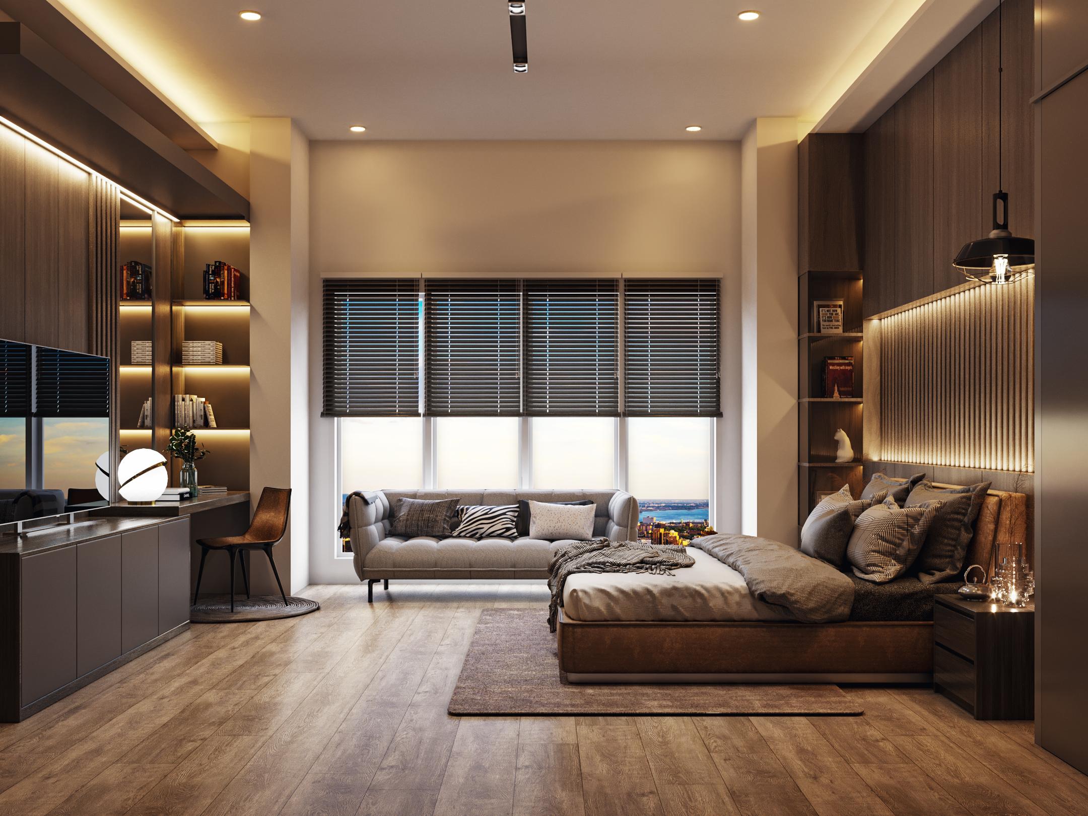 desain interior kamar modern-kontemporer