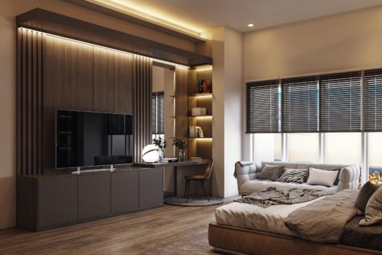 desain kamar modern-kontemporer