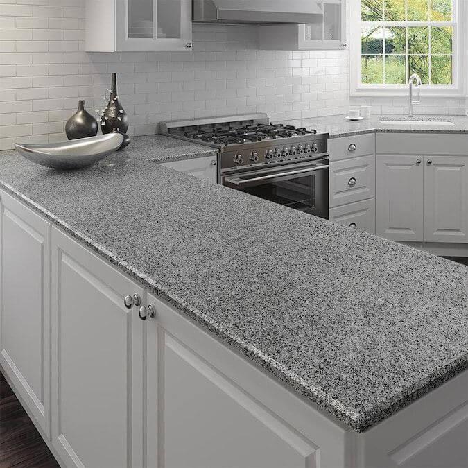 meja dapur granit futuristik