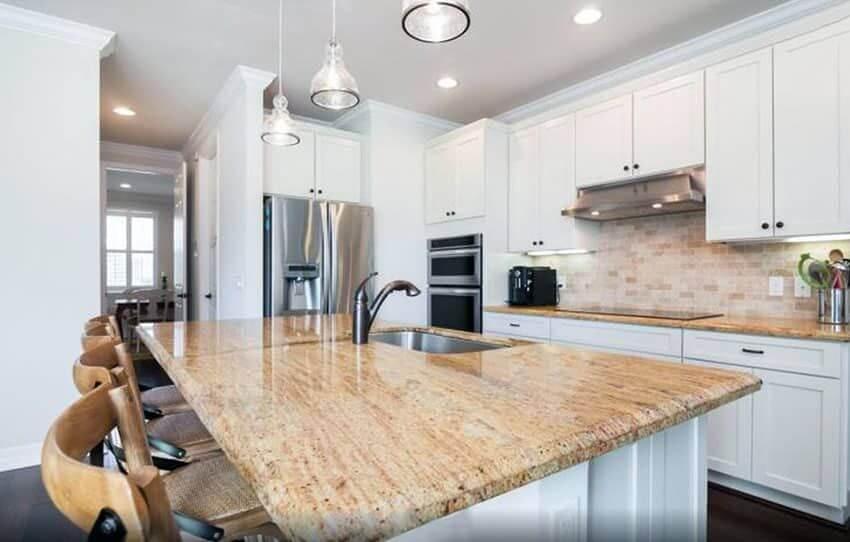 meja dapur granit coklat