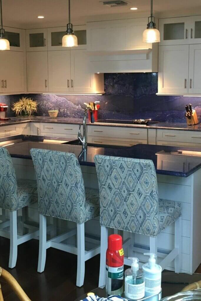 meja dapur granit biru