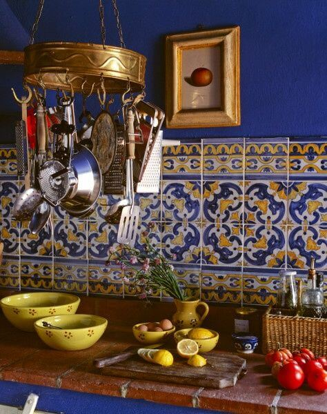 meja dapur keramik maroko