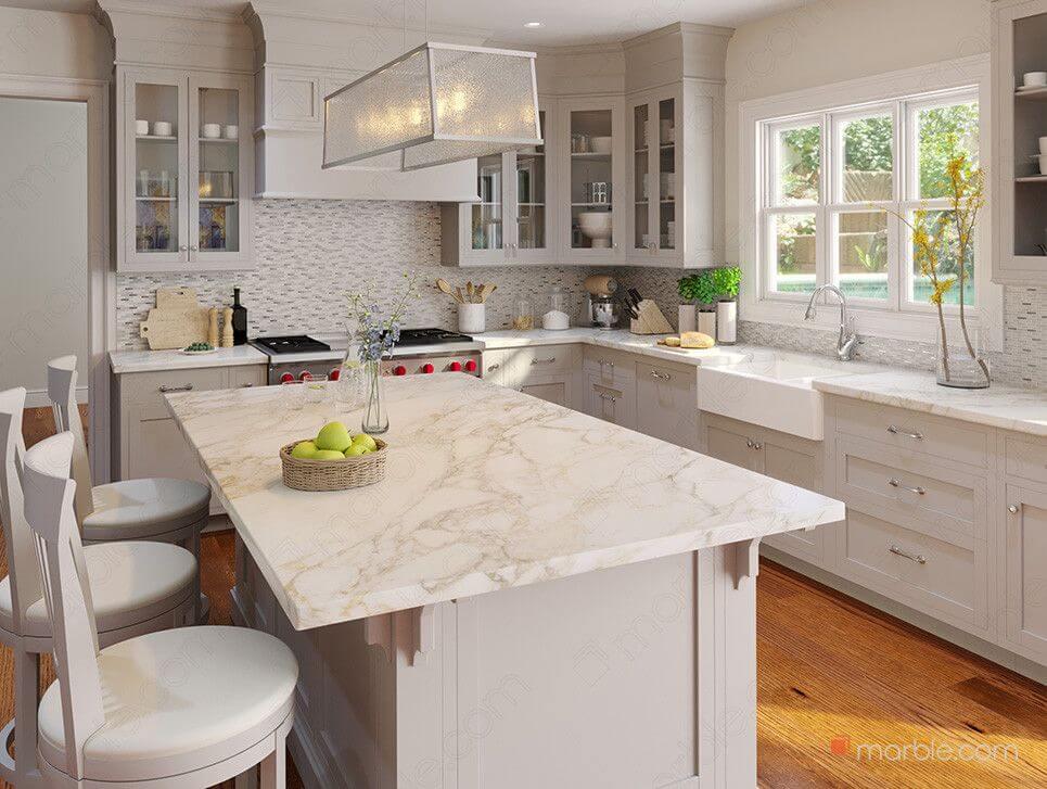 meja dapur keramik batu alam