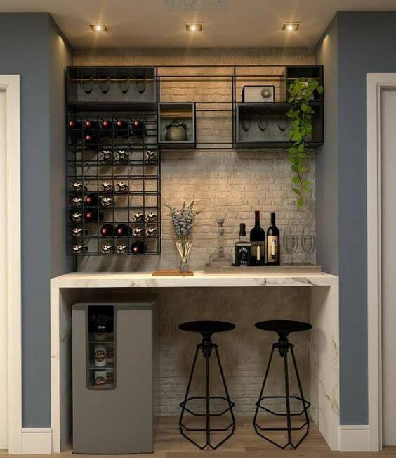 model meja dapur mini bar
