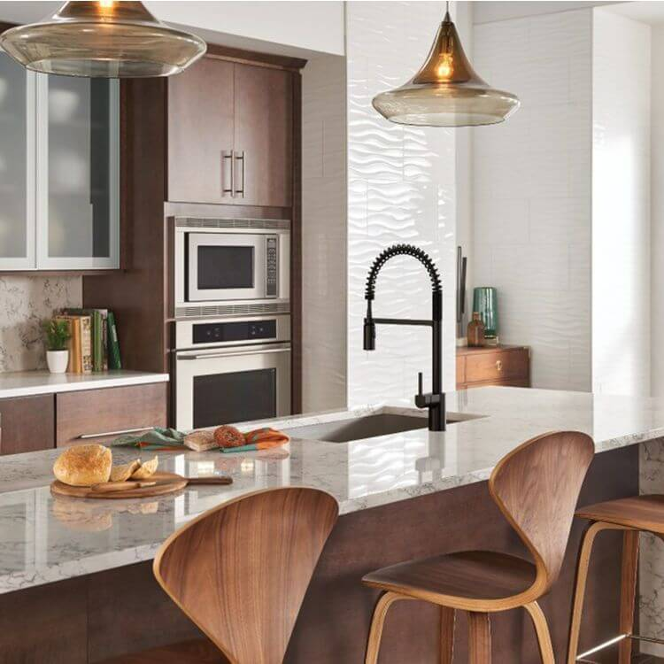 model meja dapur dengan keran fleksibel