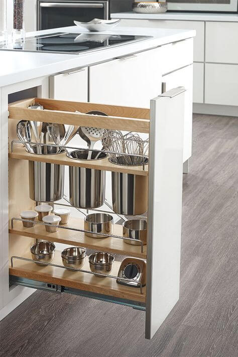 model meja dapur dengan ruang penyimpanan