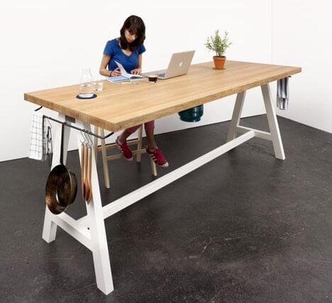 model meja dapur siap saji