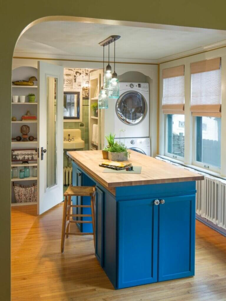 model meja dapur minimalis dengan kabinet