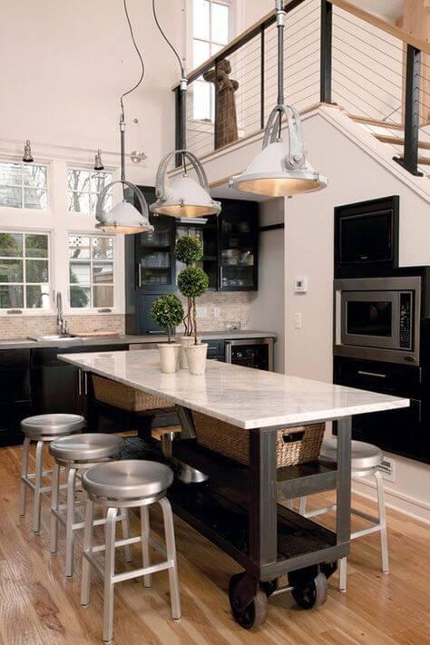 model meja dapur minimalis dengan roda